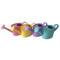 Assorted Colours and Print Children's Small Tin Garden Watering Can
