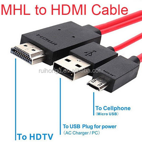 MHL Micro USB HDTV 1080P Adapter Cable for Samsung Galaxy S5 S4 S3 Note 3