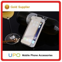 [UPO] Electroplating Folio Screen Wallet Book Clear View Mirror Flip Mobile Covers Case for iPhone 6 6s plus
