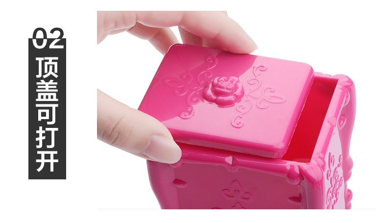Make up cotton plastic box container nail art remover paper holder