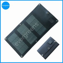 2015 new product 6W 5V flexible and foldable CIGS rohs solar cell phone charger