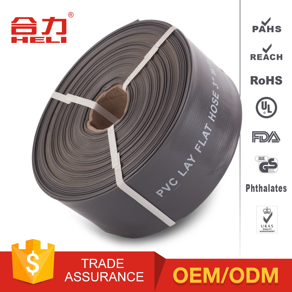PVC lay flat tubing canvas garden water hose