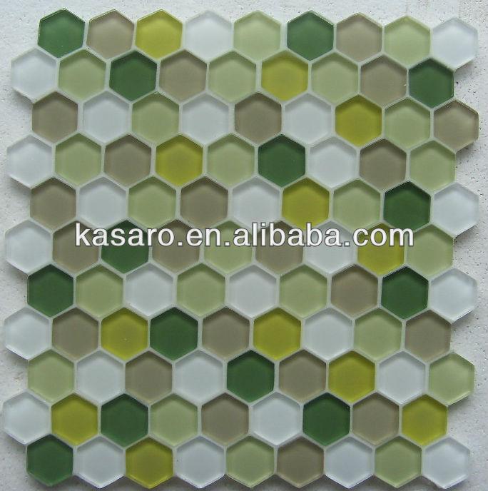 Piso Para Baño Verde: , hexágono azulejos baño, verde hexágono mosaico piso de baldosas