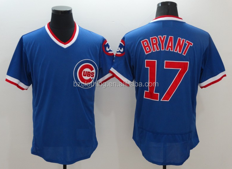 Chicago Cubs Kris Bryant Royal 1982 Pullover Flex Base Jersey