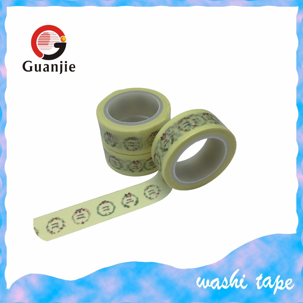 Christmas Paper Washi Tape, Masking Adhesive Roll Decorative
