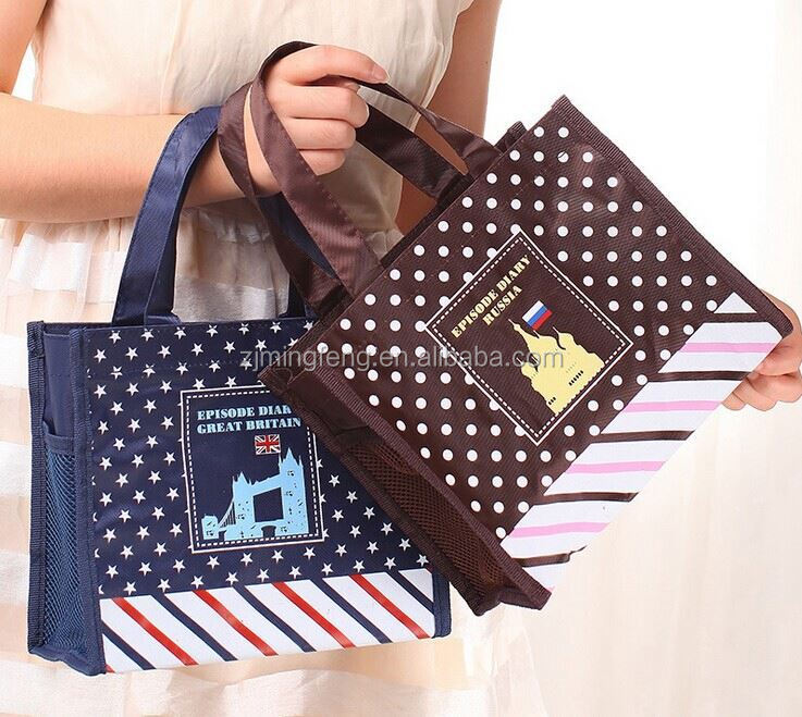 ployster bag/ gift bag with logo/ hot selling promo gift bag