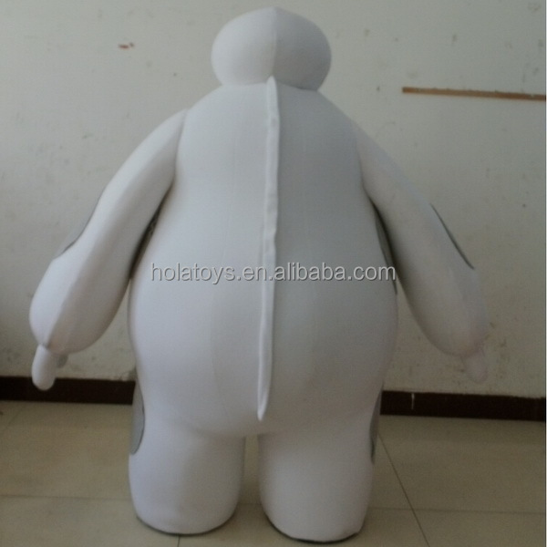 Hola movie white big hero 6 baymax mascot costume/baymax costume