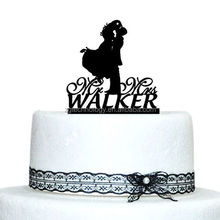 Personalized Design Mr & Mrs Acrylic Wedding Cake Toppers