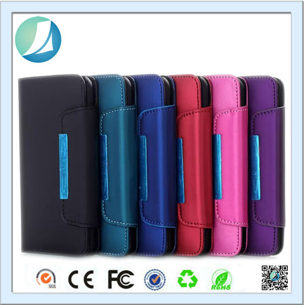 High Quality Book Style Smart Wallet Flip Leather Case for iPhone 3gs