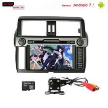 9'' touch screen Android 7.1 car gps radio multimedia player for toyota prado 150 land cruiser 2014 with audio video system rds