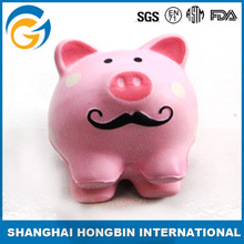 Clean Pink Pig Shaped Anti Stress Toy Pu Ball