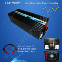 Solar power inverter 5000W, dc to ac pure sine wave converter, input 12V output 220V 120V