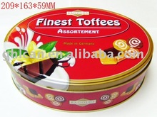 Promotional glossy metal container pizza box
