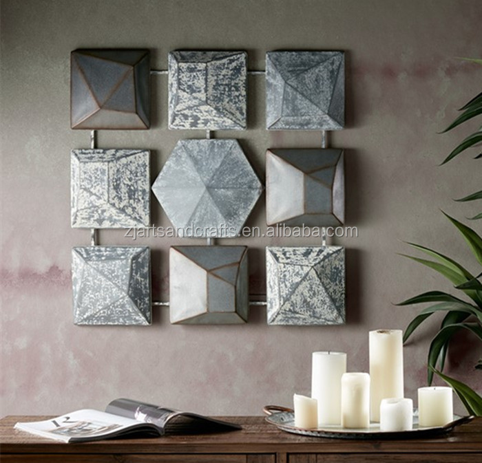 New design nine grid Vintage Iron Wall Decor