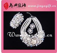 Guangzhou Accessory Newest White Wedding Fashion Jewelry Sets