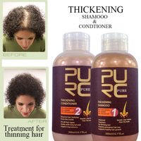 Natural thickening shampoo and hair conditioner best hair loss treatment for men and women
