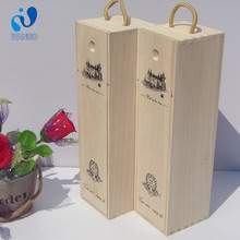 WanuoCraft Custom Logo Unfinished Wooden Wine Case With Slide Lid For One Wine Bottle