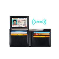 Buy European style pu leather RFID blocking men's RFID wallet in ...