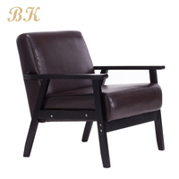 Design cheap chair Antique Style Living Room Wholesale fashion Upholstered fabric Wood sofa Chair