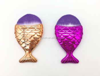 make up brush with electroplated finish