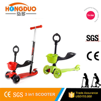 Hot sale folding style kids 3 wheel scooter pedal kick scooter