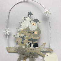 wooden craft decoration santa christmas ornaments 2018