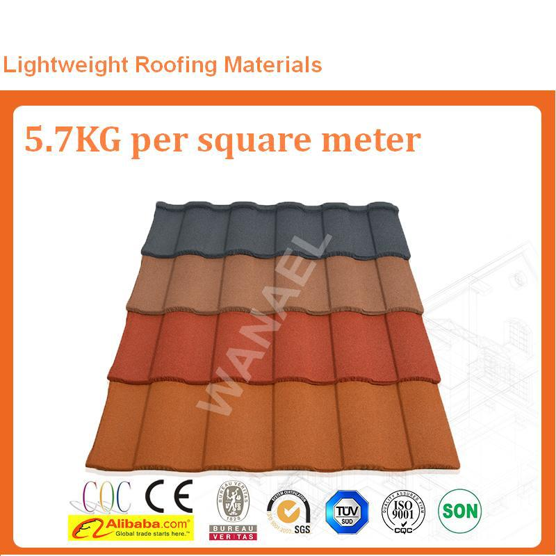 Best Chinese roof tile manufacturer Wanael,stone coated steel roof,terracota roof tile