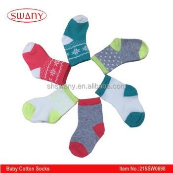 Baby Coloful jacquard cotton socks