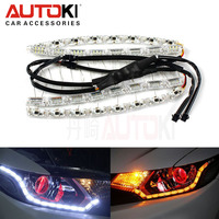 Autoki Flexible led drl Universal crystal led light daytime running light led flexible drl