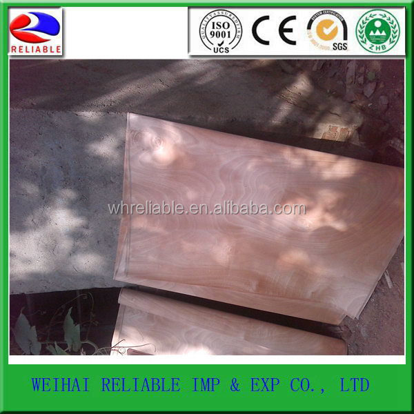 China supplier manufacture Professional natural edge banding wood veneer