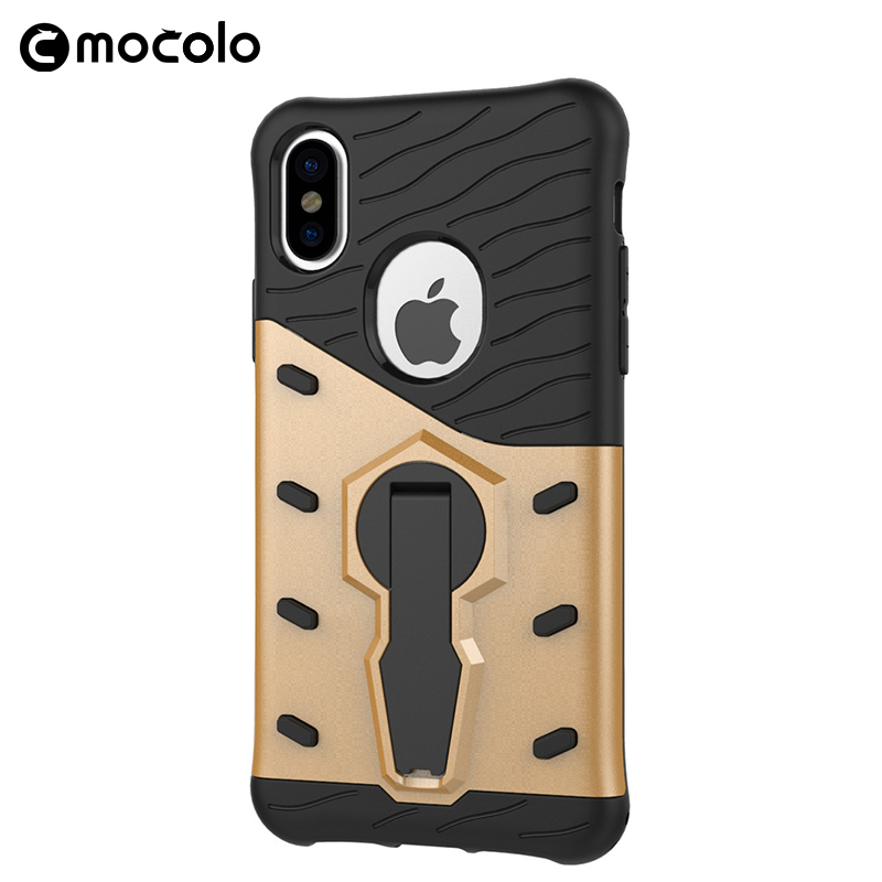 Anti-Broken Mobile Phone Back Cover For Iphone 8 TPU PC Material Case With Bracket For Iphone 8Plus X