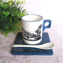 Alibaba wholesale elegant high quality ceramic coffee cup holder tray for oem design
