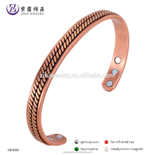 Health jewelry magnetic permanent stainless steel stackable bangle