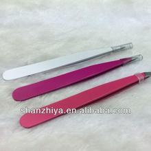 PROFESSIONAL COSMETIC PINK HEART EYEBROW TWEEZERS