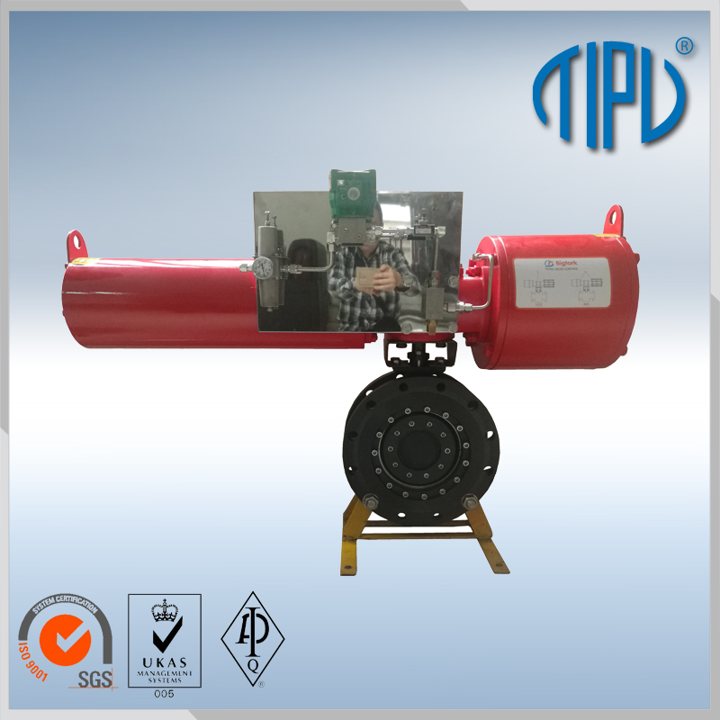 Pneumatic Actuator Triple Offset Flange Butterfly Valve Price