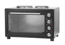 CE,CB,ETL,GS,RoHS large capacity 45L toaster oven baking electric convection oven with hotplates