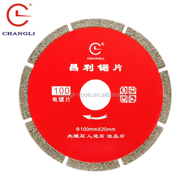 Electroplated Diamond Cutting Tools Of Circular Saw Blade For Cutting Granite Stone And Ceramic