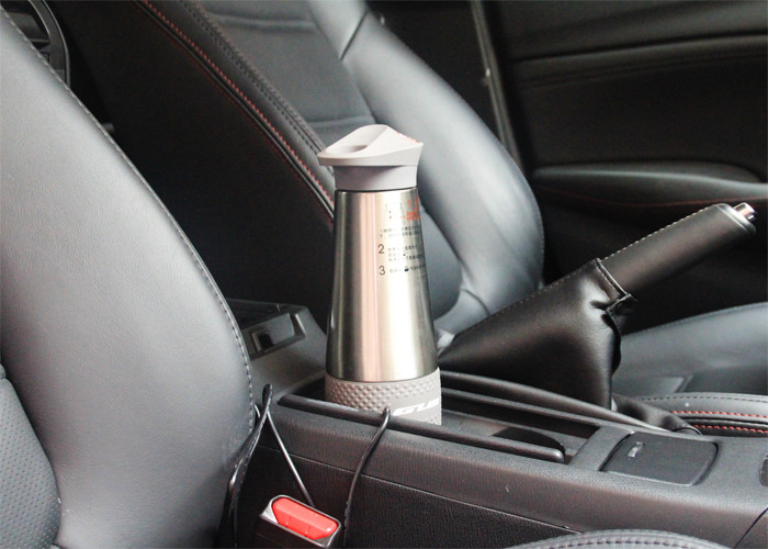 High quality car carried heating cup high strength ABS+304 stainless steel materials for long distance travel car heat cup
