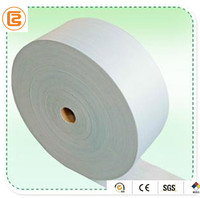 Rayon and PET cross lapping spunlace nonwoven fabric for wet wipes, baby wipes and alcohol swab