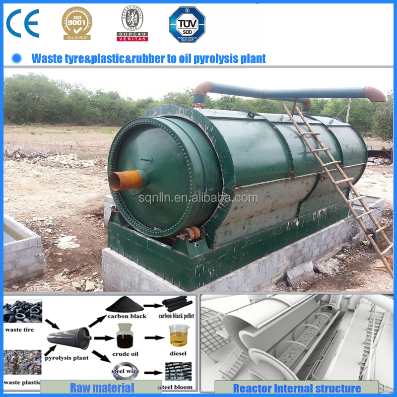 waste tyre pyrolysis extracting crude oil machine