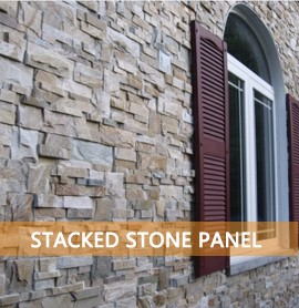 Natural Stacked Stone Wall Cladding Decoration