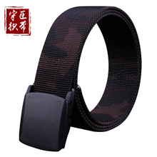 Wholesale custom Camouflage pants trouser clothing belts fabric webbing belts 100% cotton canvas polyester army web