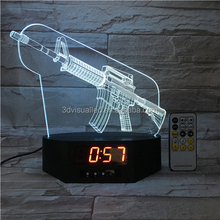 acrylic lamp timer clock with 3d night light table lamp 3d illusion lamp