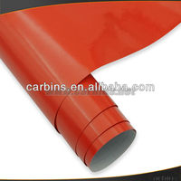 Air bubble free red glossy car protective wrap vinyl film , full car body sticker design 1.52*30m