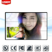 Cheap price 47 inch 2015 lcd xxxx video xxx wall\ POP with free software 4.9mm super narrow bezel
