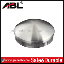 Newest 304 stainless steel end cap for steel bar pipe end cap for aluminum railings for construction
