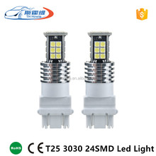 Car Led Turn Signal Light T20 T25 3156 3157 3030 24SMD Chip Auto Parking Brake Reverse Lamp Bulb