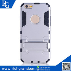 Hot sale top quality best price Slim armor Hybrid PC+TPU cheap mobile phone case with kickstand for iphone6 plus