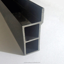 Black Extrusion Processing Double Hole PVC Plastic Profile for Building