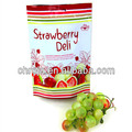China Supplier Eco Friendly Zipper Stand Up Ziplock Strawberry Bag